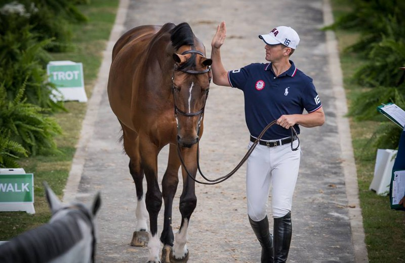 AZUR GARDEN'S HORSES (E.O.) (Thunder van de Zuuthoeve/Sir Lui – naisseur: N. Beaufort à B-8600 Pervijze) et McLain Ward (photo archives)