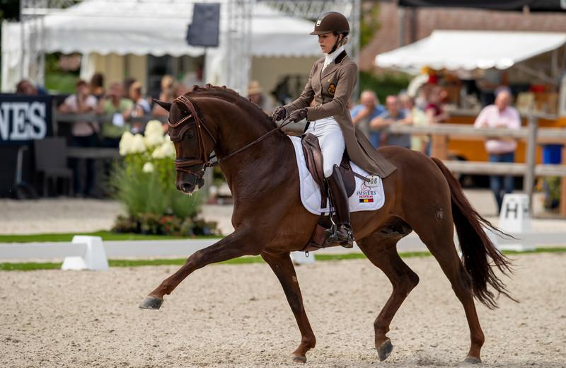 FIRST-STEP VALENTIN (Vitalis/Fidermark) & Larissa Pauluis au World Championship Young Dressage Horses - Ermelo 2019 (c) Dirk Caremans