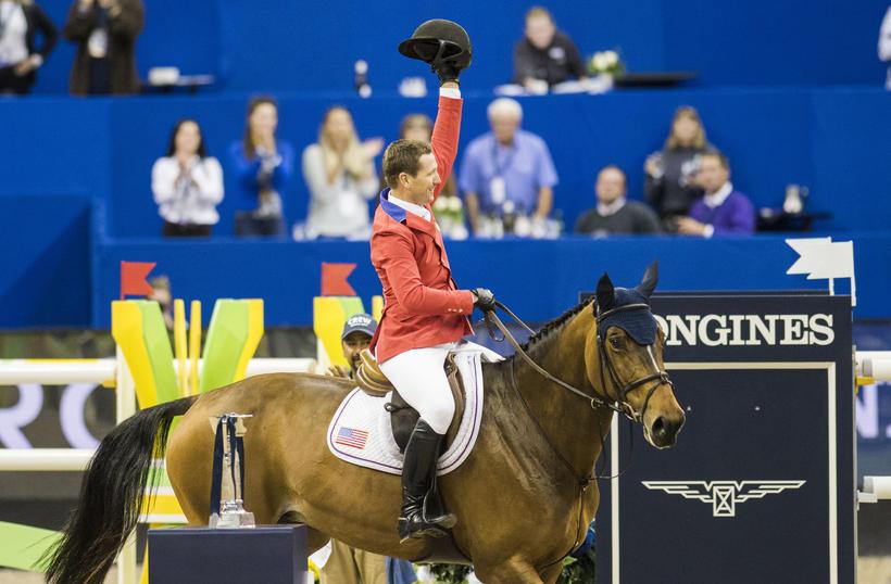 SBS HH AZUR GARDEN'S HORSES (E.O.) (Thunder van de Zuuthoeve/Sir Lui – naisseur: Nathalie Beaufort à B-8600 Pervijze)  montée par McLain Ward (USA) (photo (c) FEI)