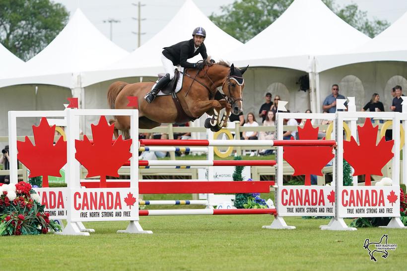 François Lamontagne et Chanel du Calvaire, Ottawa Equestrian Tournaments, 18 juillet 2021 (Ben Radvanyi Photography)